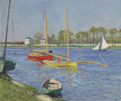 Gustave Caillebotte's oil painting from 1882, <em>La Seine à Argenteuil</em>, brought in $5.1 million, at the low end of its expected sale price between $5 and $7 million.
