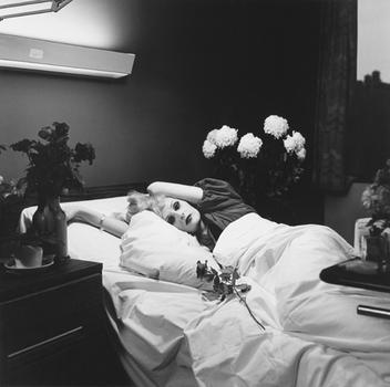 """Although this work isn't part of the current show at Matthew Marks, it may be Hujar's best known: """"Candy Darling on her Deathbed."""""""