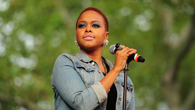 Chrisette Michele performs at Central Park's SUmmerstage on August 21.