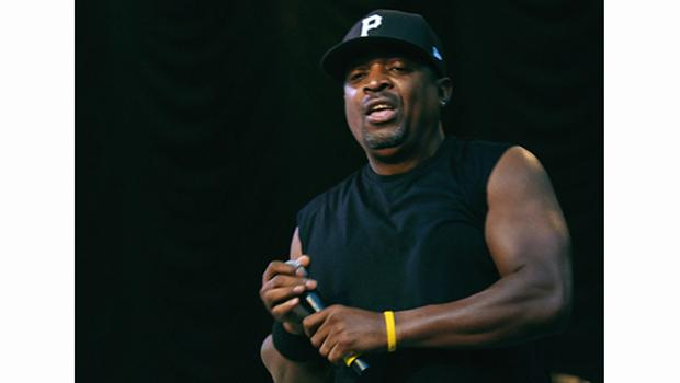 Chuck D leads Public Enemy on Central Park's Summerstage on August 15.
