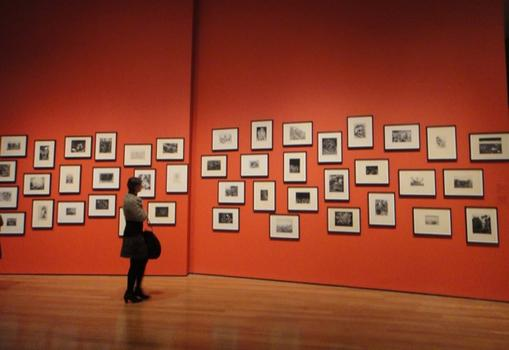An installation view of Dix's war etchings, fetchingly displayed against a red wall. If you missed these at the Neue Galerie last year, consider this an incredible second chance to see them.