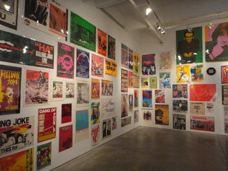 The posters at Kasher are brash and often simply made, in some cases, a simple Xerox copy. Seen here: An installation view of the gallery.