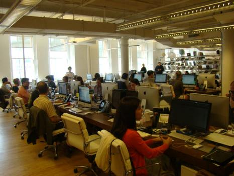 The offices of Warby Parker, an online glasses retailer.