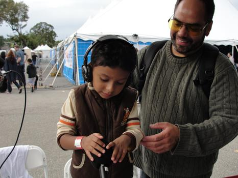 A Five-Year-Old Learns to Audio Record