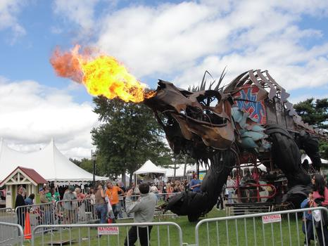 Fire Breathing Dinosaur