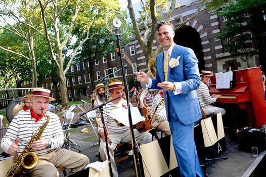 Michael Arenella and his Dreamland Orchestra are an annual fixture at the Jazz Age Lawn Party on Governors Island.
