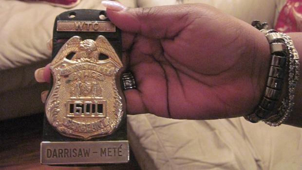 The badge Deborah Mete was wearing, as a school safety officer, the day of the World Trade Center attacks
