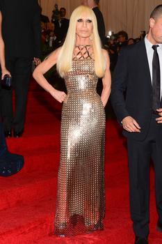 Italian fashion designer Donatella Versace.