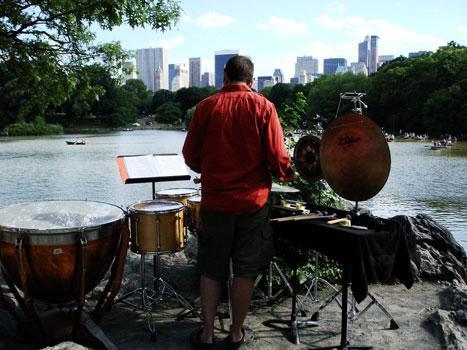 Percussionist Doug Perkins