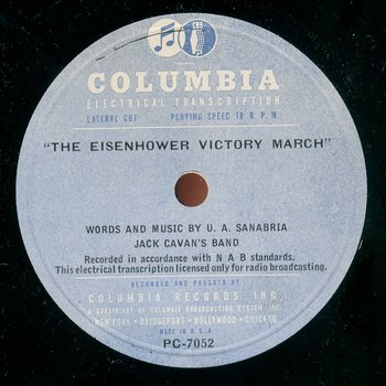 "Record label for ""Eisenhower Victory March"""