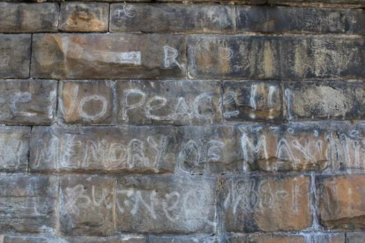 Kids in this neighborhood have been writing on the walls of the Embankment for decades.