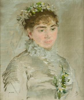"""Une mariee"" from 1879 by the French artist Eva Gonzales. The pastel on canvas is Lot 1012 at Bonham's May 9 Modern and Contemporary sale. It's expected to get $200,000."