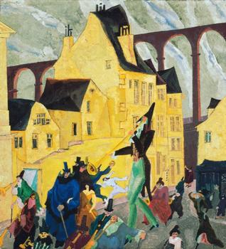 At the Whitney: A broad retrospective devoted to the work of Lyonel Feininger, a figure who was as at home in the Bahaus as he was in comics. Seen here: 'Carnival in Arcueil,' from 1911.