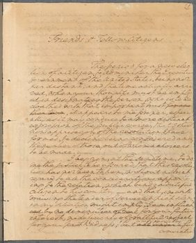 George Washington's handwritten final draft of his farewell address, 1796.