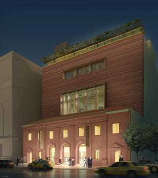 A rendering of the Richard B. Fisher Building at 321 Ashland Place, which will house the Brooklyn Academy of Music's Professional Development program.