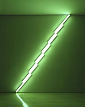 'Untitled,' a fluorescent light work by Dan Flavin, from 1975 — also at Lehmann Maupin.