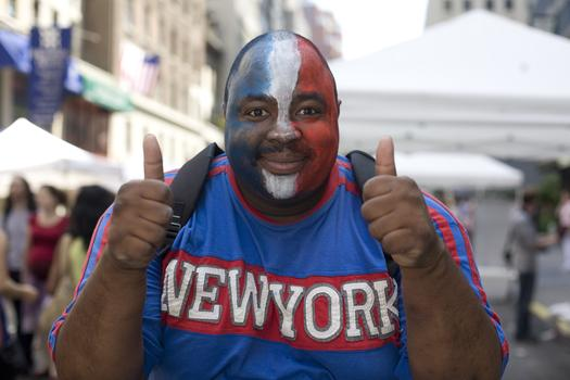 French Fan at Bastille Day on 60th Street