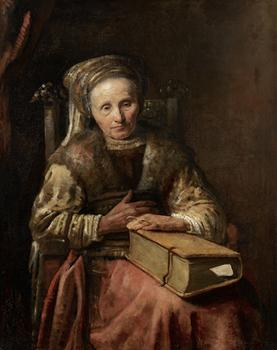 <em>Old Woman with a Book</em>, c. mid-1650s