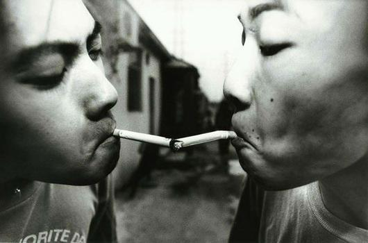 This portrait, 'Beijing Punks,' was taken by Katharina Hesse.