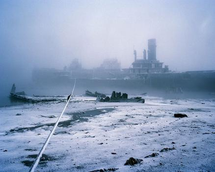 Simon Roberts made this work, called 'Polyarnye Noche #9, Murmansk, Northern Russia.'