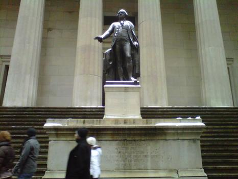 Statue of George Washington at Federal Hall Memorial.