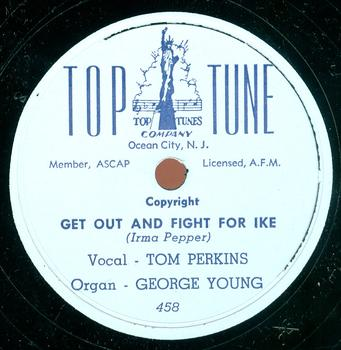 "Record label for ""Get Out and Fight For Ike"""