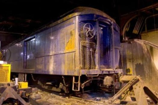 President Franklin Delano Roosevelt's custom-built train car, which sits on a secret track beneath Grand Central Terminal.