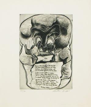 Words by New York City-born poet Richard Wilbur are scripted below this figure by Buffalo-born artist Salvatore Grippi.