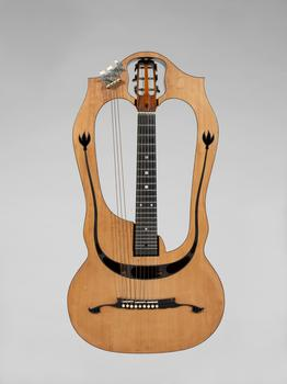 A chitarra-lyra, built by luthier Luigi Mozzani in Cento, Italy around 1915.