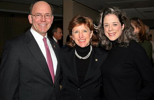Lobbyist, Heather Podesta (far right) with U.S. Sen. Kay Hagan and her husband, Chip.