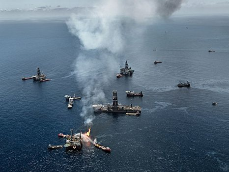 """Oil Spill #7, Ground Zero"" was taken in the Gulf of Mexico on June 24, 2010."