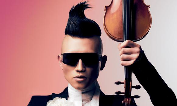 Violinist Hahn-Bin favors a flamboyant look on and off stage