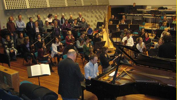 Rehearsing Piano Concerto, Hilversum 2010