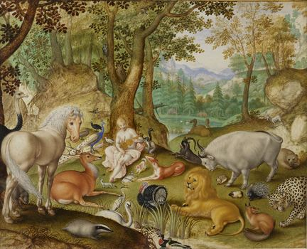 Jacob Hoefnagel (1573–ca. 1632) Orpheus Charming the Animals, 1613