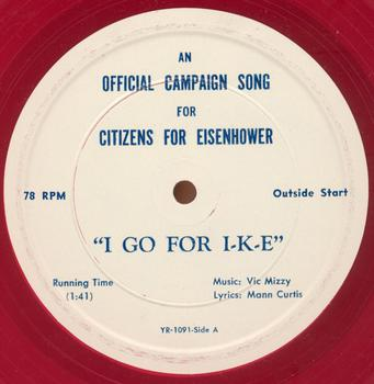 "Record label for ""I Go For I-K-E"""