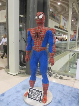 There was also a Megablocks model of Spider-Man at NYCC.