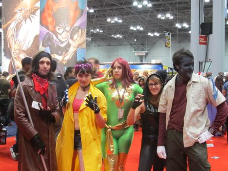 A group of friends dressed as some of the X-Men (and women!)