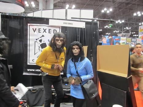 "A costume mash-up of two sci-fi favorites: ""Planet of the Apes"" and ""Star Trek."""