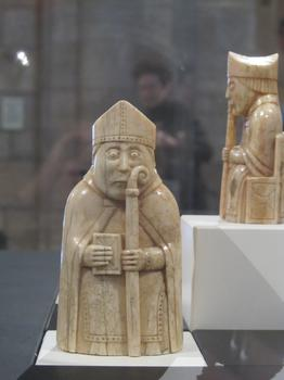 A stoic bishop, part of the Lewis Chessmen.