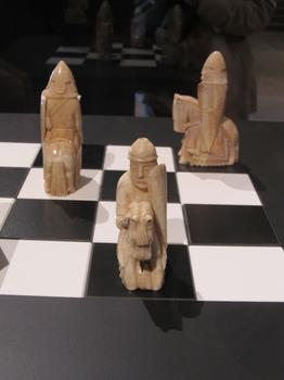 A closer view of three knights.