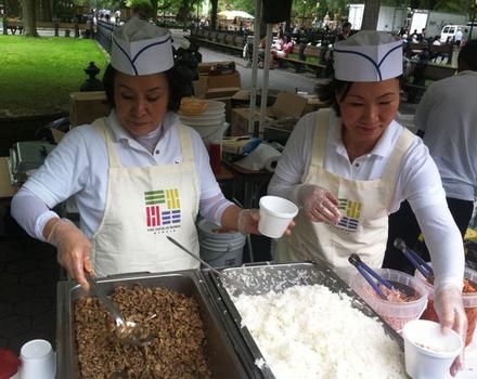 Other servers doled out plentiful portions of bulgogi and rice to hungry festival-goers.