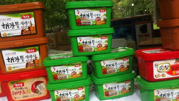 Festival goers bought kimchi, a Korean staple, to take home.