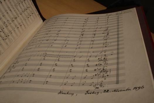 Mahler signed off on his 3rd Symphony with the date and location.