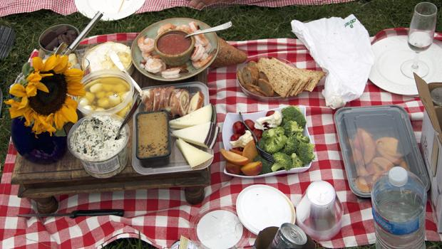 One of the more elaborate picnic spreads.