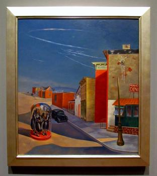 Plus, a view of my favorite painting: Louis Guglielmi's 1941 canvas 'Terror in Brooklyn.' This is how I feel when <em>The New York Times</em> reviews restaurants in my neighborhood.