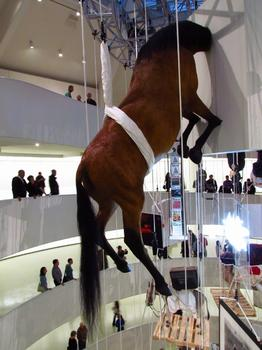 'Cuz there's nothing like looking at a horse's ass. One of Cattelan's untitled taxidermy pieces, also from 2007, shows what usually goes unseen -- a work I actually find quite compelling.