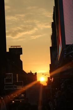 Thursday's Manhattanhenge.