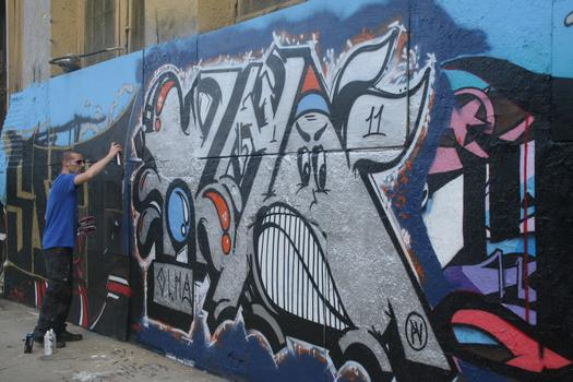 International artists often come to Long Island City to paint at 5Pointz.