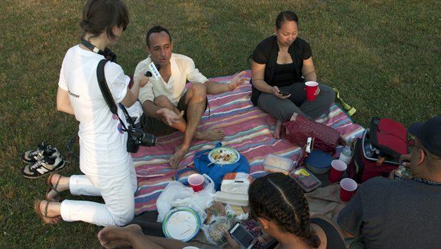 WQXR's Margaret Kelley asks concert-goers, 'What's in your picnic basket?'