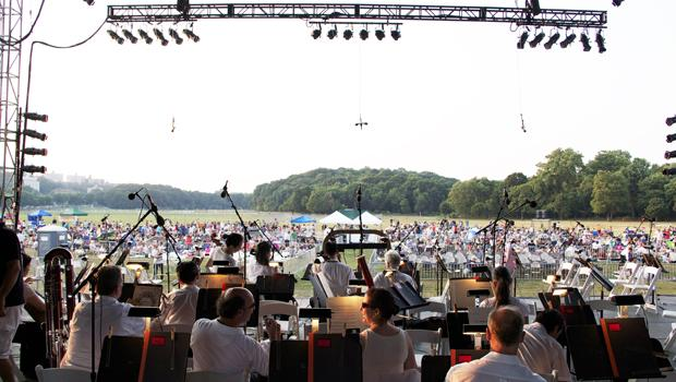 The New York Philharmonic at Van Courtlandt Park in the Bronx on July 17, 2012.